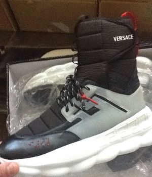 Versace hi top chain reactions size 11 brand new $350 og all for Sale in Washington, DC