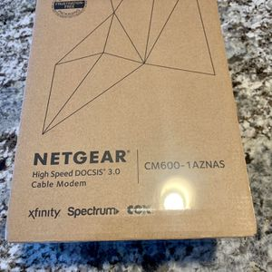 Netgear High Speed DOCSISS 3.0 Cable Modem Cm600 for Sale in Scottsdale, AZ