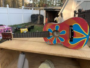 Children's toy guitar 31 1/2 inches long has all of its strings attached for Sale in Milton, DE