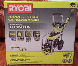 RYOBI POWERED BY HONDA PRESSURE WASHER 3300 PSI for Sale in Kent, WA