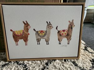 Llama framed canvas pic for Sale in Harmony, PA