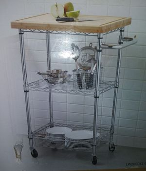 Style Selections Kitchen Cart Chrome New for Sale in Pulaski, TN