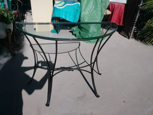 Entry Table. Metal with Glass Top for Sale in Las Vegas, NV