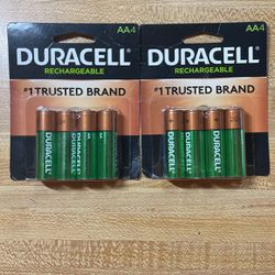 Duracell Rechargeable AA batteries Qty 8 for Sale in El Paso,  TX