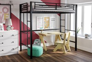 NEW Premium Metal Loft Bed, Twin Size, Multiple Colors for Sale in Las Vegas, NV
