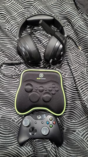 XBOX Controller and gaming headphones for Sale in San Francisco, CA