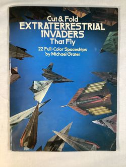 Model Aircraft Folding and Flying Activity Book. Unused. Free no charge. for Sale in Phelps,  NY