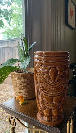 Tiki planter or flower pot. Perfect for cactus or tropical plant for Sale in Austin, TX