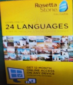 ROSETTA STONE LEARN ONE OF 24 LANGUAGES NEW 1YEAR SUBSCRIPTION ON ANY DEVICE for Sale in Modesto, CA