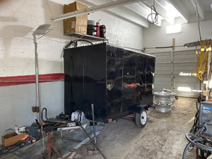 "4 x 8 custom made enclosed landscape/cargo/utility trailer with 31"" Wide x 64"" Tall rear door $1100.00 or best offer for Sale in Hollywood, FL"