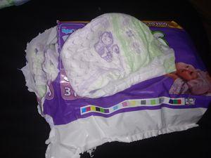 Newborn diapers and 2 pacies for Sale in Thomasville, NC