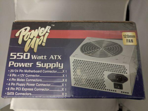PowerUp 550 watt ATX Desktop Computer Power Supply
