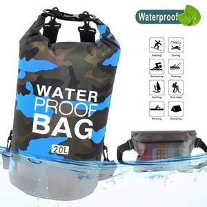 Idefair Waterproof Dry Bag 10L 20L, Floating Backpack with Waist Pouch, Lightweight Roll Top Dry Compression Sack for, Boating, Fishing, Kayaking, 20L for Sale in Houston, TX