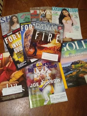 Eleven (11) Current Issues of Popular Magazines! for Sale in Chippewa Falls, WI