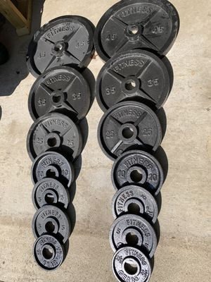 255 Pounds of Olympic Weight Plates for Sale in Columbus, OH