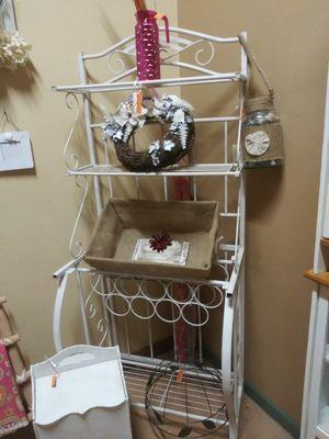 Bakers Rack w/Wine Holder for Sale in Maricopa, AZ