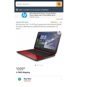 """HP Flyer Red 15.6"""" Laptop PC with Intel Pentium N3540 Processor, 4GB Memory, 500GB Hard Drive and Windows 10 Home. for Sale in Miami, FL"""