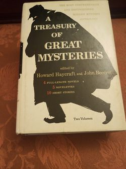 A Treasury Of Great Mysteries edited by Haycraft and Beercroft for Sale in Arlington,  VA