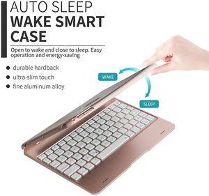 iPad Keyboard Case for iPad Pro 9.7 Inch, New 2018 iPad, 2017 iPad, iPad Air 1 and 2 Bluetooth Keyboard with 130° Smart Folio Hard Back Cover for Sale in Ontario, CA