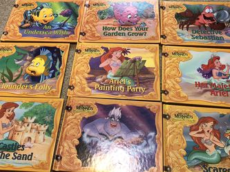 Disney Little Mermaid Treasure Chest Storybook Collection Set Of 9 for Sale in Smyrna,  TN