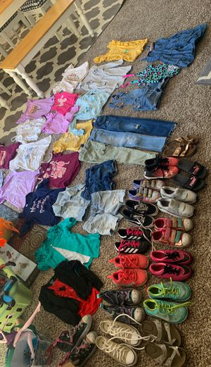 Girl 6-7-8 clothes shoes for Sale in Redlands, CA
