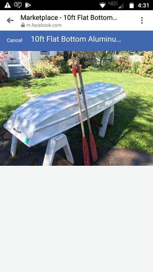 10 ft flat bottom aluminum boat for Sale in Hartford, CT