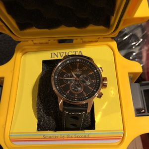 Invicta Copper Dial Black Face Leather Band Watch for Sale in Las Vegas, NV