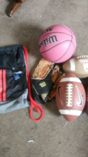 Various Balls + adidas backpack for Sale in Melvindale, MI