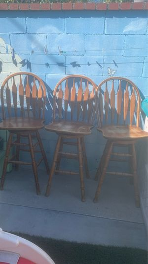 Wooden bar chairs for Sale in Norwalk, CA