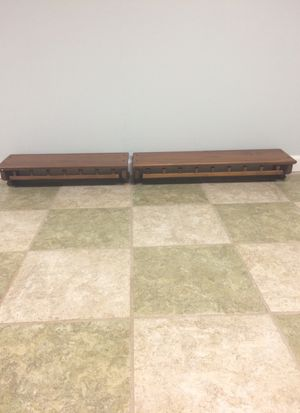 Two Ethan Allen wall ledge shelves for Sale in Bolingbrook, IL