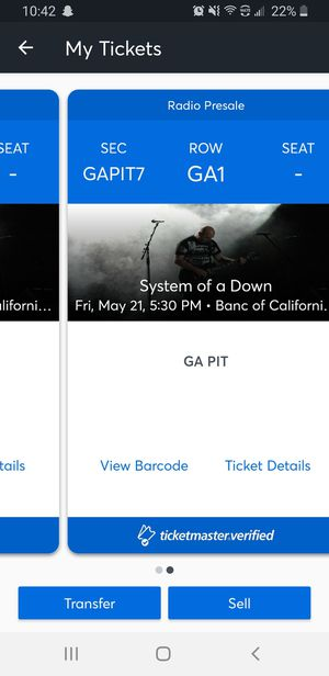 System of a Down and Korn pit tickets for Sale in Los Angeles, CA