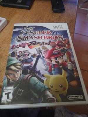 Nintendo Wii super smash Bros brawl for Sale in San Diego, CA