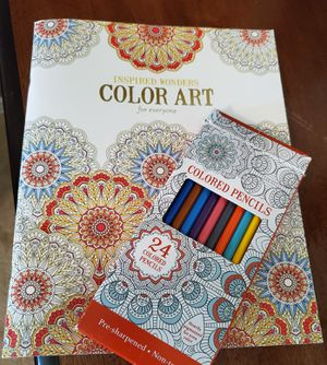 Art book and colored pencils for Sale in Grand Prairie, TX