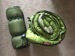 Coleman sleeping bag, Slumberjack self-inflating air mat for Sale in Chicago, IL