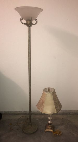Ceramic Floor Lamp and Antique Table Lamp for Sale in Tampa, FL