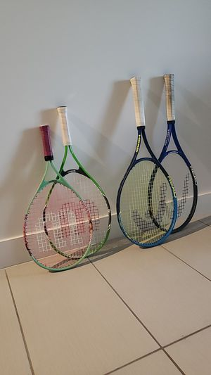 tennis racket and balls for Sale in Miami, FL