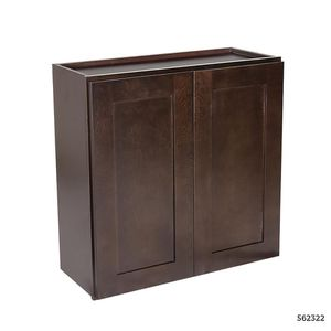 Design House Brookings Plywood Ready to Assemble Shaker 27x12x30 in. 2-Door Wall Kitchen Cabinet in Espresso for Sale in Dallas, TX