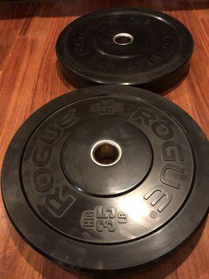 Rogue HR 35 lbs bumper plates (70lbs total) for Sale in La Palma, CA