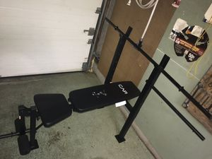 100 LB weight set bench for Sale in Affton, MO