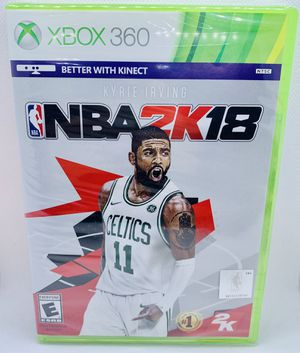 NBA 2K18 XBox 360 Brand New Factory Sealed NBA Basketball Microsoft Kyrie Irving Kinect for Sale in Puyallup, WA