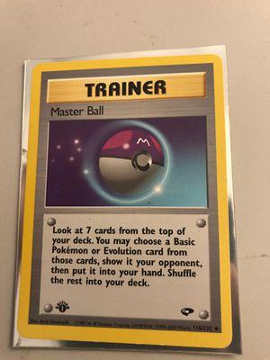 Pokemon card Masterball 1st Edition card for Sale in Stockton, CA