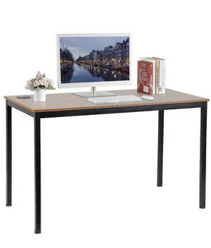 47 inch Simple Computer Desk for Home Office, Writing Table for Workstation, Teak Top for Sale in Marina del Rey, CA