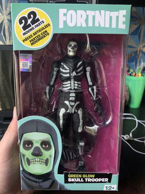 Mcfarlane Fortnite Green Glow Skull Trooper Figure for Sale in Clovis, CA