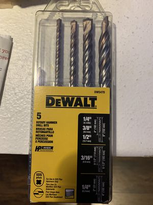 DeWalt hammer drill bits for Sale in Port Richey, FL