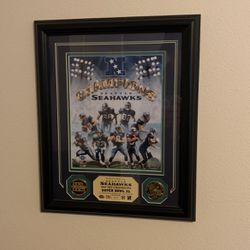 Seahawks Memorbilia - NFC Champions 2005 With 24kt Gold Medallions for Sale in Seattle,  WA