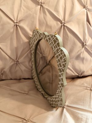 Green Wood Patterned Hanging Mirror for Sale in South Jordan, UT