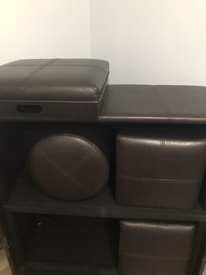 Ottoman with stools and trays for Sale in Fort Worth, TX