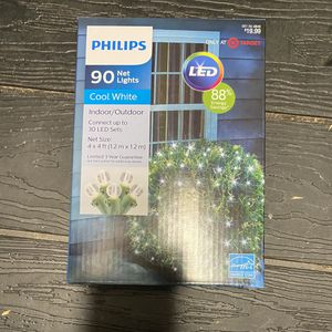 Philips 90 LED Net Lights Cool White for Sale in Rancho Cucamonga, CA