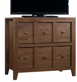 "New!! Console table w file cabinet, stand for TV up to 42"", organizer, walnut for Sale in Phoenix, AZ"
