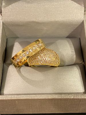 18K Gold plated Engagement/Wedding Ring Set - Code PK20 for Sale in Sacramento, CA